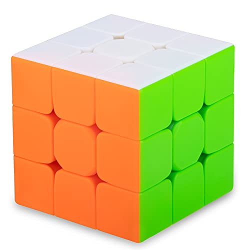 SISYS Zauberwürfel 3x3x3 Speed Cube, 3x3 Magic Puzzle Cube Würfel Aufkleberlos Speedcube 3D Puzzle Spiele für Kinder Erwachsene