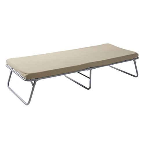 """BYER OF MAINE Collapsible Steel Frame Cottage Cot Bed, Swedish Bed, Set Up Dimensions are 75""""L x 31""""W x 17""""H and Folds Up for Storage to only 37H x 32W x 7"""" Thick for Storage, Guest Bed, Hideaway Bed"""