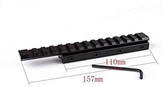 Gotical14 Slot Extension Low Profile Airgun/.22 Dovetail Rail 11MM To 20MM Weaver Picatinny Rail Adapter Scope Mount Converter