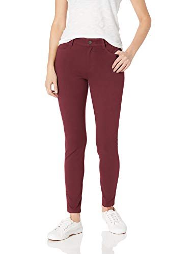 Amazon Essentials Standard Skinny Stretch Knit Jegging Leggings, Burgundy,...