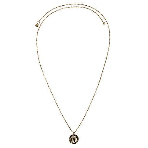 DKNY Donna Karan Necklace Large Token Logo Pendant with Swarovski Crystal