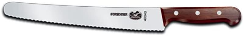 Victorinox 10 1 4 Inch Wavy Edge Bread Knife Rosewood Handle
