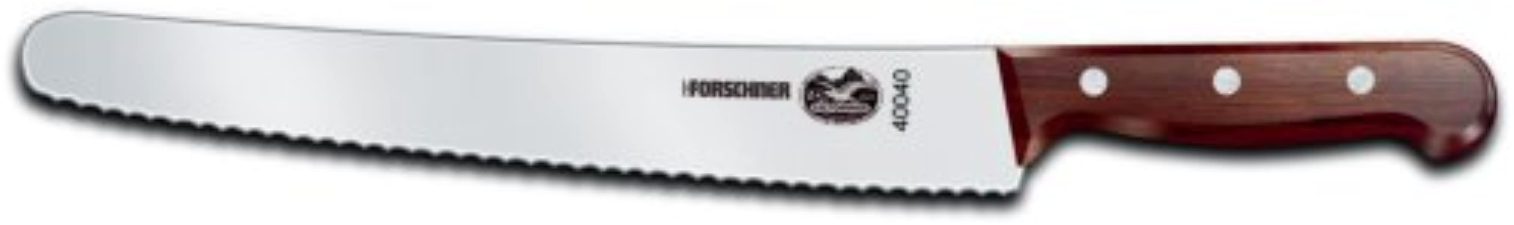 Victorinox 10 1 4 Inch Wavy Edge Bread Knife Rosewood Handle