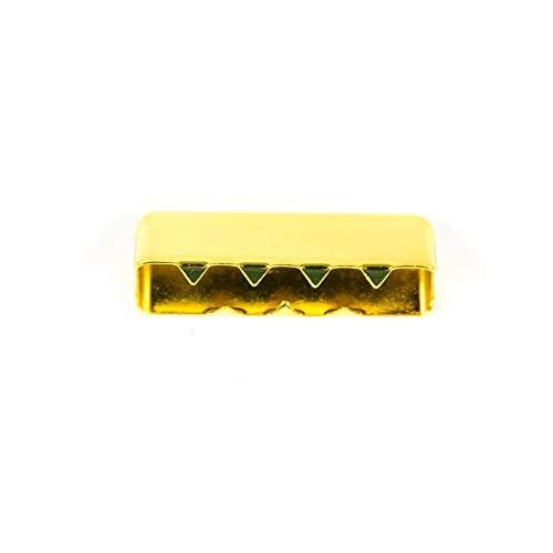 Metall-Endstück für Gurtband 25mm, gold - Preis gilt für 1 Stück