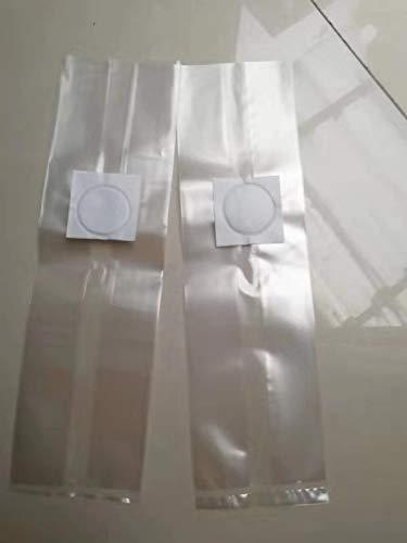 Amazing-us kleine Größe 10,2 x 7,6 x 45,7 cm verschließbare Laich-/Myco-Beutel mit 0,5 Mikron Filter, entworfen für Pilzzucht/CO2-Strahlung Hydrokulturen 4