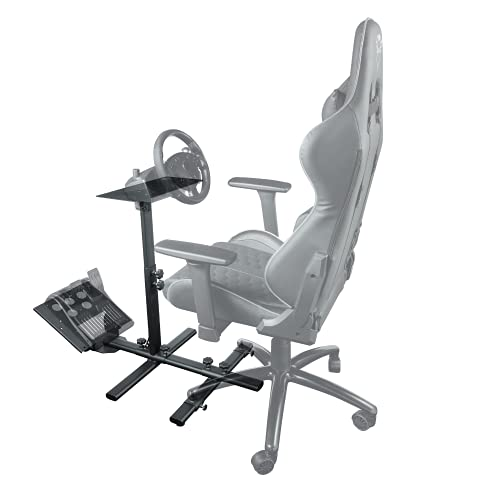 Trust Gaming GXT 1150 Pacer Adattatore Simulatore di Guida, Comprensivo di Base del Pedale e Base del Volante, Interamente Regolabile - Nero
