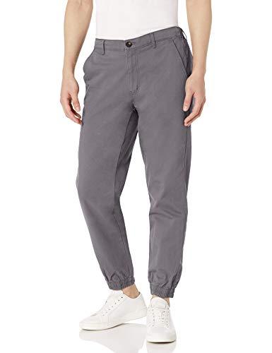 Amazon Essentials - Pantalones deportivos de corte recto para hombre, Gris oscuro, US XS (EU XS)