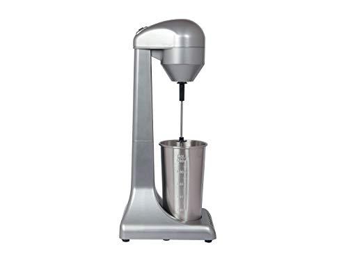 Beper - Batidora para Frappè, Milkshake, Café Frío, Batidos y Cócteles, 2 Velocidades, Contenedor de Aluminio 0.5 L, 100 W, Plateado