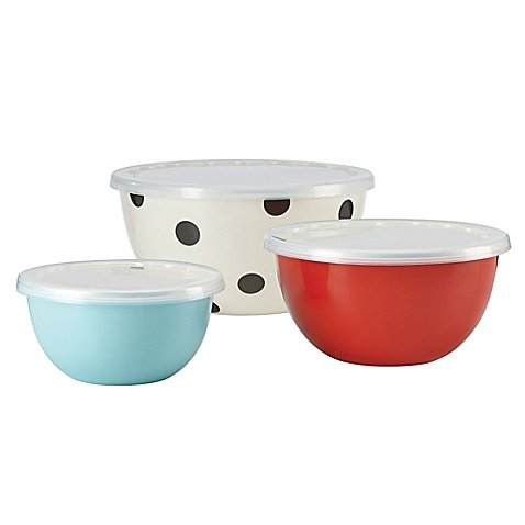 kate spade new york All in Good Taste Serve and Store Bowls (Set of 3)