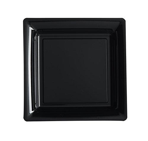 Ma Vaisselle Jetable - Assiette Carree Couleur Noire Diametre 290