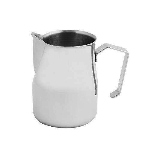 FMprofessional Milchkännchen 750ml, Milch Pitcher aus Edelstahl, Milchaufschäumen für perfekten Cappucino, (Farbe: Silber), Menge: 1 Stück