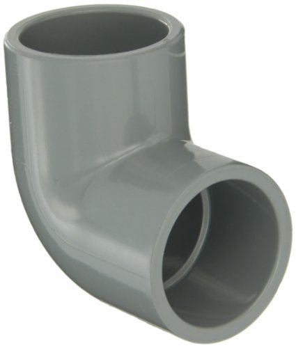 GF Piping Systems CPVC Pipe Fitting, 90 Degree Elbow, Schedule 80, Gray, 1-1/2 Slip Socket by GF Piping Systems