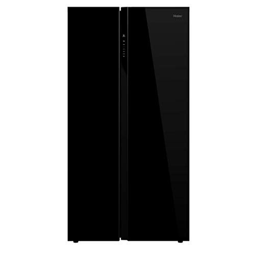 Haier 570 L Inverter Frost-Free Side-by-Side Refrigerator with Twin Inverter Technology (HRF-622KG, Black Glass)