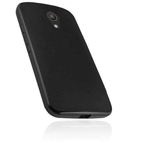 mumbi Hülle kompatibel mit Motorola Moto G2 Handy Case Handyhülle, schwarz
