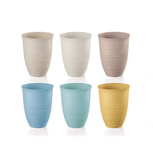 Guzzini Tierra Set di 6 Bicchieri Alti, Post Consumed Recycled Poliestereastic, Multicolore, 9.8 cm, 6 unità