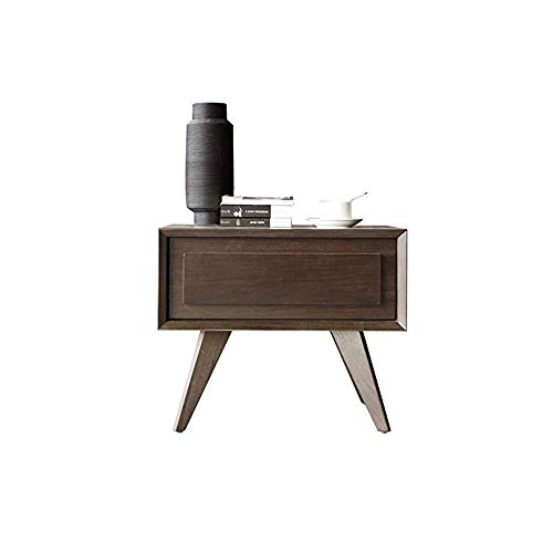 FTFTO Haushaltsprodukte Nachttisch Beistelltisch mit Lagerschrank und Schublade Holz Nachttisch Große Kapazität Einfach zu montieren