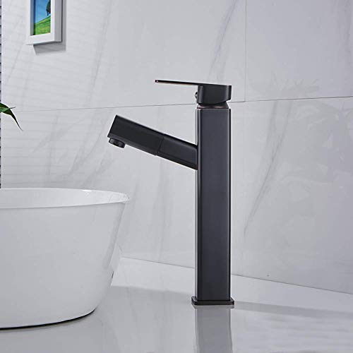 Best Prices! Faucet Black Retro Hot and Cold Water Sink Faucet Single Handle Single Hole Kitchen Fau...