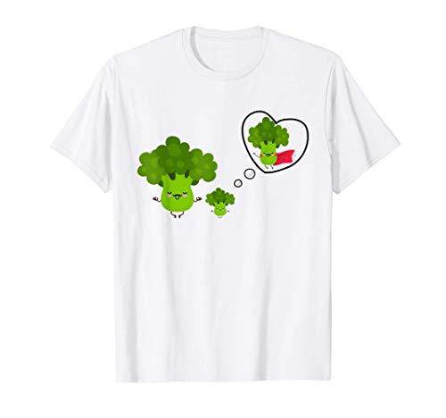 Héroe Papá Brócoli & Su hijo | Divertido Para Día Del Padre Camiseta