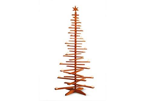 Philippi Lucia Teelichthalter Weihnachtsbaum, Orange, 134 x 45-66 cm