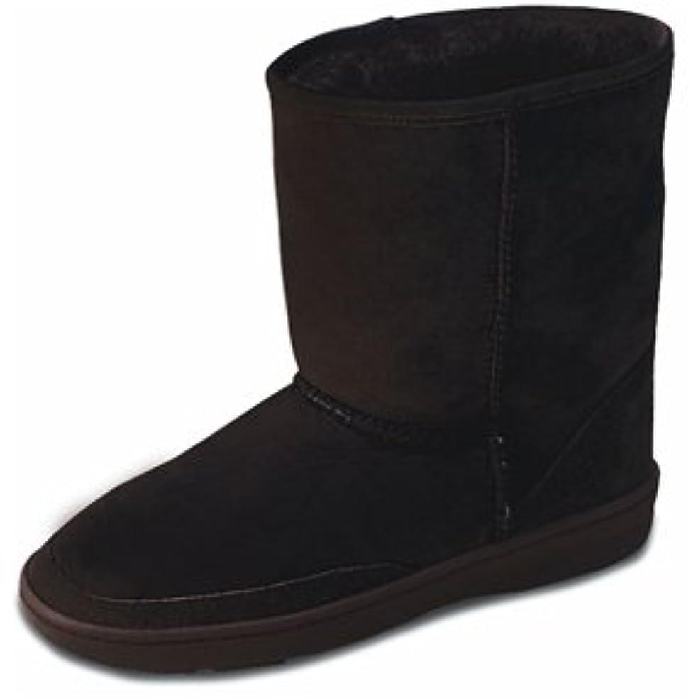 きゅうりまだはい[ミネトンカ] Minnetonka レディース SHORT SHEEPSKIN PUG BOOT シープスキン ミニ ブーツ ブラック(BLACK) US11(27.5-28cm) [並行輸入品]