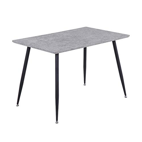 GOLDFAN Rectangle Dining Table Wooden Metal Kitchen Table Dining Room Home Furniture, Grey, Only Table