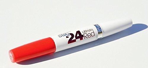 lot de 3 Rouge à lèvres Superstay 24h Maybelline ultimate red - N° 480 tangerine pop