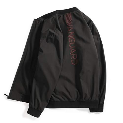 QJY Casual jas voor heren met capuchon voor heren (normale maat en groot en hoog) Black-XL