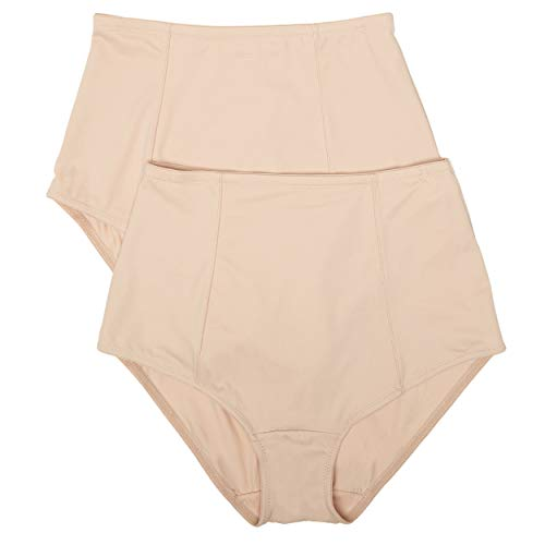 Ellen Tracy Women's Classic Comfort Brief with Extra Tummy Hold 2Pack