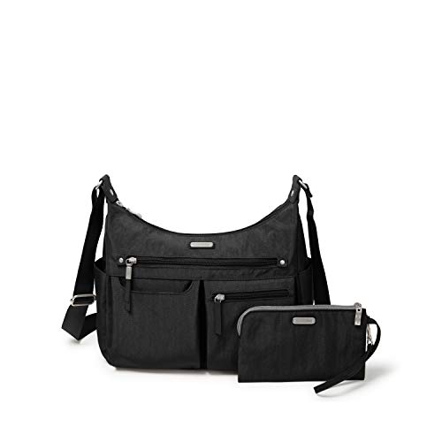 Baggallini New Classic Heritage Anywhere Large Hobo with RFID Phone Wristlet, Black