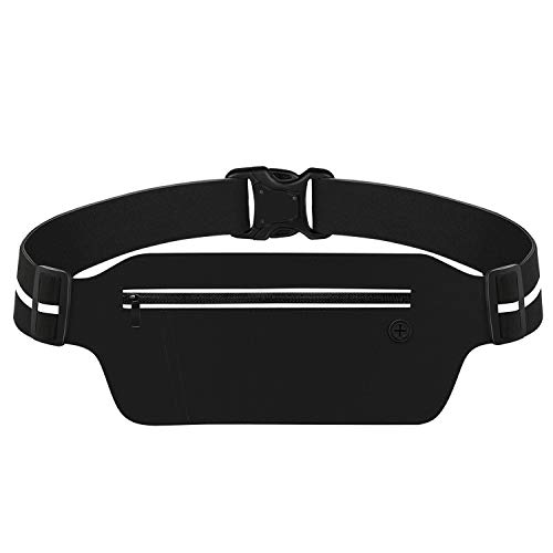 Running Pouch Belt with LED Light, USA Patented, Runner Waist Pack iPhone X 6 7 8 for Men and Women (with LED Light)