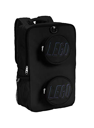 LEGO Kids Brick Backpack-Black, One Size