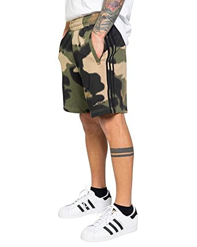 adidas GN1887 Camo AOP Short Shorts Mens Wild Pine Multicolor Black XL