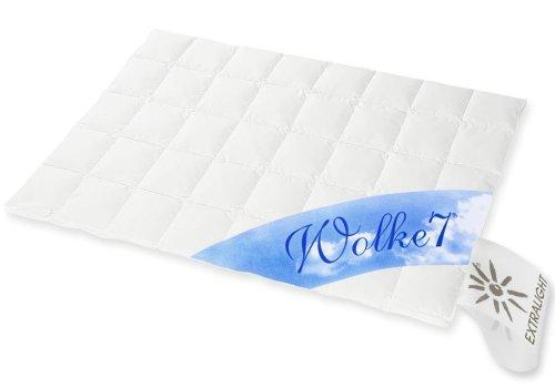 Hanskruchen Wolke 7 Hochwertige Bettdecke, Sommer, 90% Naturdaunen / 10% Federchen, 135 x 200 cm