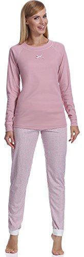 Damen Schlafanzug lang Pyjama Set | Nachtwäsche Hausanzug Langearm Zweiteiliger...