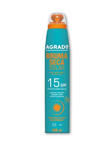 Écran solaire 15 SPF Protection UVA UVB Résistant à l'eau Spray solaire sec invisible 360º AGRADO
