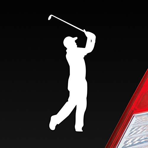Auto Aufkleber Golfer Golf Minigolf Sport WGC PGA Sticker Heckscheibenaufkleber