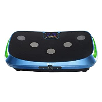 LifePro Rumblex 4D Vibration Plate Exercise Machine - Triple Motor Oscillation Linear Pulsation + 3D/4D Vibration Platform | Whole Body Vibration Machine for Home Weight Loss & Shaping  Blue
