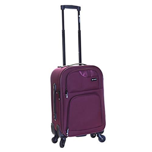 Slimbridge Lightweight Cabin Hand Luggage Bag Suitcase 55 cm 2.3 kg 35 litres 4 Wheels, Andalucia Purple