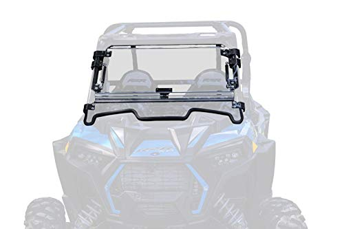 SuperATV Scratch Resistant 3-1 Flip Windshield for 2019+ Polaris RZR XP 1000 / XP4 1000 | Made in USA | 250 Times Stronger than Glass | Easy to install | Can be set to Open, Vented, or Fully Closed!