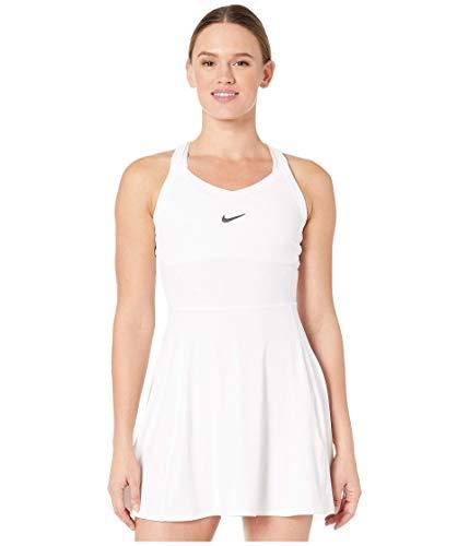 Nike AV0724-100 Abito da Tennis, Blanco/Negro, S Donna