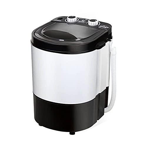 WANGTX Mini lavadora pequeña para el hogar, lavadora portátil para una sola bañera, lavadora de viaje, adecuada para acampar, apartamento, dormitorio, hogar, otra lavadora/Negro / 340×340×485m