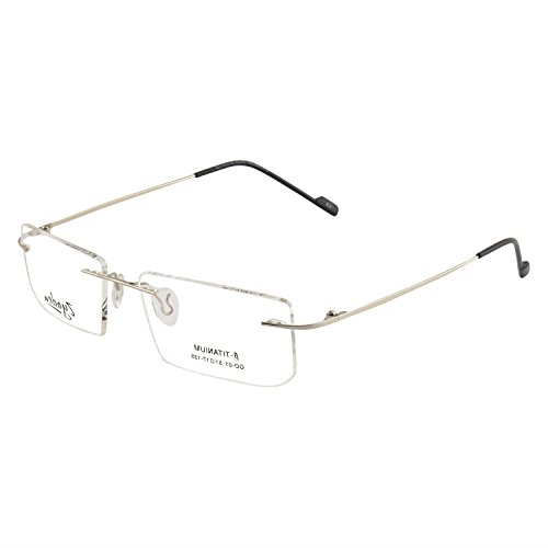 Zyaden Rimless Rectangular Unisex Spectacle Frame(Rimless-A10 70)