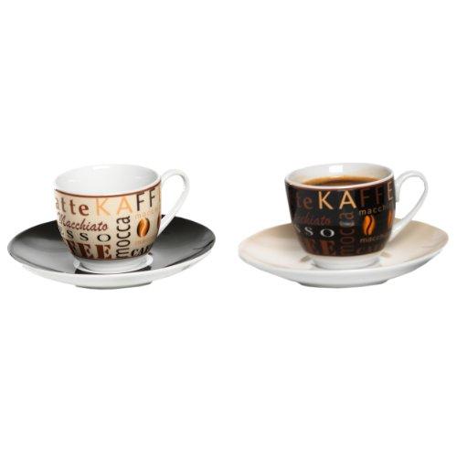 Ritzenhoff & Breker Havanna Espresso, 2er Set, hochwertiges Porzellan, spülmaschinengeeignet, 548136