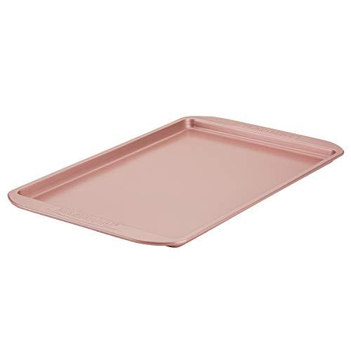 Farberware Nonstick Bakeware, Nonstick Cookie Sheet / Baking Sheet - 11 Inch x 17 Inch, Rose Gold Red