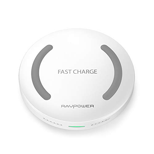 Wireless Charger RAVPower Qi-Certified Fast Wireless Charging Pad, 10W Fast Charge Galaxy S9 S8+ S8 S7 Edge S7 & Standard Charge Compatible iPhone Xs MAX XR XS X 8 8 Plus