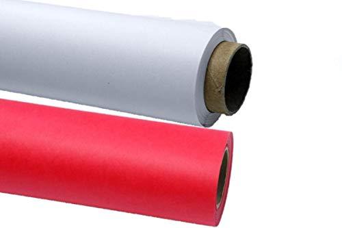 3X Hintergrundkarton Farbwahl weiß oder rot Foto Papierhintergrund 2,72 x 11m 150g/qm