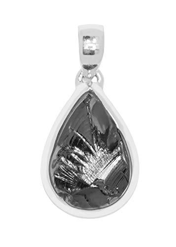 ERCE elite shungit colgante gota, plata de ley 925, longitud 4 cm