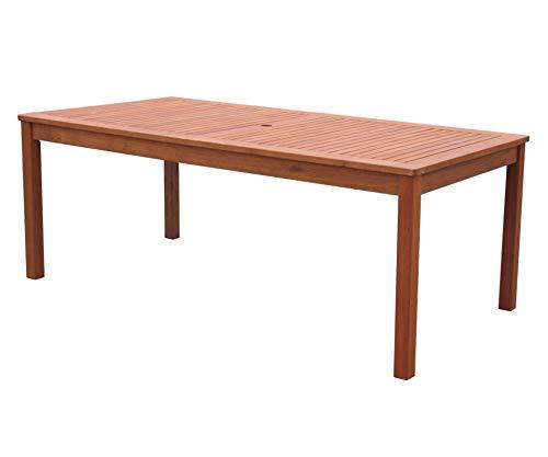GRASEKAMP Qualität seit 1972 Gartentisch 160x90cm Natur Holztisch Tisch Gartenmöbel Eukalyptus - 2