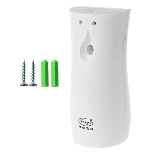 MYhose Dispensador de Aerosol Dispensador de Perfume automático Ambientador Rociador de Fragancia en Aerosol Montado en la Pared Blanco