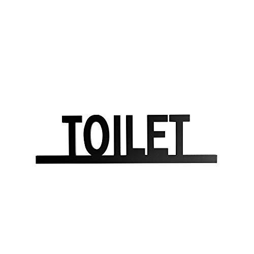 【新商品】トイレ ドアプレート サイン TOILET ルームプレート | 艶消しブラック | オフィスサイン オフィスプレート ルームサイン オフィスルーム 看板 案内 表示 標示 標識 DIY ドア おしゃれ トイレ サイン マーク atoi-017